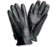 Mens Leather Gloves Solid Black Genuine Driving Thinsulate  Pair Comfort L & XL