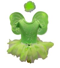 Tinkerbell Fairy 80s Fancy Dress Party Costume Sparkle Bling Baby Toddler Girl