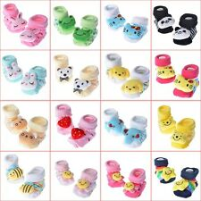 Cute Newborn Baby Girl Unisex Anti-slip Warm Socks Animal Shoes Boots 0-6 Months