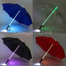 Cool Blade Runner Light LED Flash Umbrella Night Protection Gift Multi-color