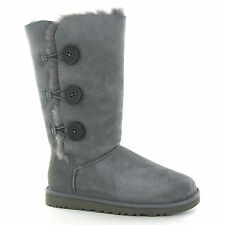 UGG Australia Bailey Button Triplet Grey Womens Boots
