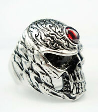 Men's PUNK gothic biker skeleton silver stainless steel cool skull party ring