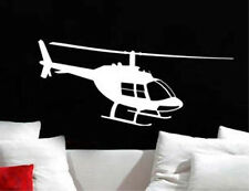 Bell 206 Jet Ranger Helicopter Sticker Vinyl Wall Art Sicker Decal Many Colors
