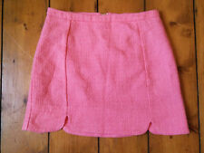 ♥New TOPSHOP Pink Country Tweed Bouclé Mini Skirt Size 6 8 10 12 14 16 RRP £29♥