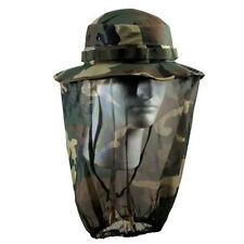 BOONIE HAT WOODLAND with CAMO MOSQUITO NETTING Small-XL FREE SHIPPING