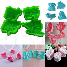 Sugarcraft Pastry Decorating Baking Plunger Cutter Cake Cookie DIY Mold Tools