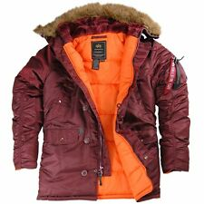 ALPHA INDUSTRIES SLIM FIT N-3B PARKA MAROON BLUE BLACK SAGE