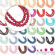 3/4/6/8/10m/12/14mm Glass Pearls Loose Round Spacer Beads 31 Color