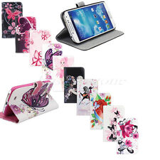 Hot Sale Flip Leather Flower Wallet Case Cover For Samsung Galaxy SIV S4 i9500