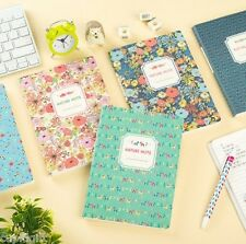 Nature Flower Notebook [M] School Line Journal Scrap Writing Blank Memo Diary