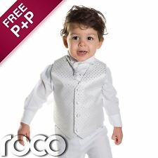 Boys White Waistcoat Suit, Page boy Suits, Boys Wedding Suits, Boys Suits
