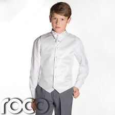 Boys White & Grey Waistcoat Suit, Page boy Suits, Boys Wedding Suits, Boys suits