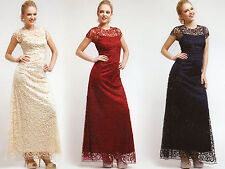 6 COLORS FORMAL OCCASION MOTHER OF BRIDE / GROOM CLASSY EVENING LONG DRESS S-4XL