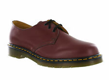 Mens Dr Martens 1461 3 Eye Cherry Red Smooth Leather Formal Shoes Size 3-15 UK