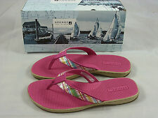 Ladies Sperry TORTOLA Pink Thong Sandals - SEQUINS! UNHEARD OF PRICE $19.99!!