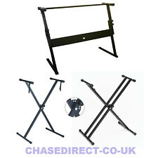 Chase Keyboard Stand X Frame Folding Height Adjustable For Yamaha Casio Piano