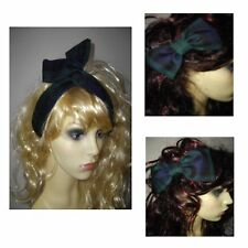 Black Watch Tartan Hair Bow - Oversized Tartan Hair Bow -  Hair Wrap  3 Designs