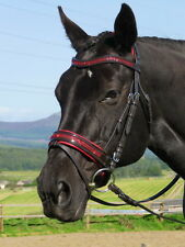 FSS GLISTEN Curve CRYSTAL RED BLING SCARLET German Comfort PATENT GLOSS Bridle