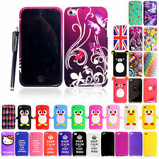 For Apple Ipod Touch 4 4th Gen Rubber Silicone Protective Back Case Cover+Stylus