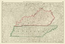 Old State Map - Kentucky, Tennessee - Rand McNally 1879 - 23 x 34.15