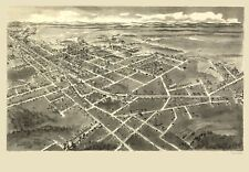HICKORY NORTH CAROLINA PANORAMIC (NC) BY DOWNS C1907