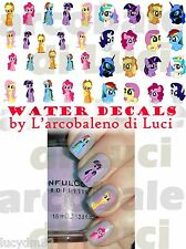 WATER DECALS LITTLE MINI PONY RAINBOW DASH STICKERS UNGHIE NAIL ART ADESIVI TATT