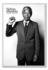 Framed Nelson Mandela Salute Poster Ready To Hang - Choice Of Frame Colours