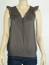 Barkins Ladies Sleeveless Top Blouse size 8 Colour Cocoa