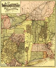 Old Railroad Map - Boston and Lowell Railroad System - Avery 1886 - 23 x 27.95