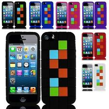 Toy Block Soft Silicone Gel Rubber Skin Case Phone Cover For Apple iPhone 5 / 5S