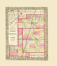 KANKEE IROQUOIS & FORD COUNTIES ILLINOIS (IL) BY R A CAMBELL 1870