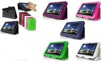 Leather Smart Case Cover for Tesco HUDL 7 Inch Tablet + Screen protector +Stylus