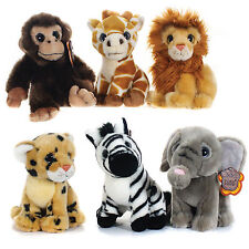 "POSH PAWS 7"" AFRICA WILDLIFE SOFT PLUSH CUDDLY TOY LION MONKEY GIRAFFE TOY NEW"