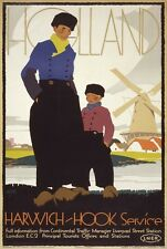 TW99 Vintage LNER Harwich Hook Holland Railway Travel Poster RePrint A1/A2/A3/A4