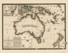 AUSTRALIA NEW ZEALAND & NEW GUINEA BY ADRIEN HUBERT BRUE 1826