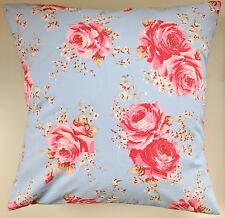 """Shabby Chic Cushion Cover in Cath Kidston Classic Rose Blue 14"""" 16"""" 18"""" 20"""""""