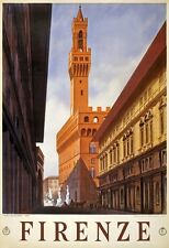 T8 Vintage 1930's Italy Firenze Florence Italian Travel Poster A1/A2/A1/A4
