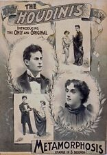 M51 Vintage 1895 Harry Houdini Metamorphosis Magic Theatre Poster A1/A2/A3/A4