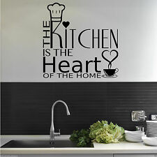 KITCHEN HEART OF THE HOME Wall Art Sticker Quote Decal Mural Stencil Transfer 2