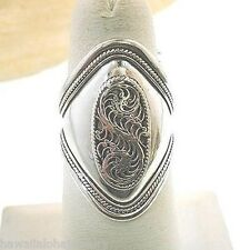 Genuine Hand Crafted Nepal Himalayan Tibetan Domed Sterling Silver Filagree Ring