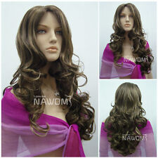 Female flaxen Long Wave Wig Hair #WG-ZL516-12H124 with Accessories