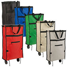 Wheeled Folding Shopping Trolley Lightweight Cart Collapsible Bag Hard Wearing