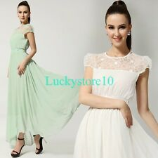 Casual Women Lace Chiffon Ball Gown Evening Party Beach Summer Maxi Long Dress