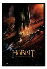 Framed The Hobbit Desolation Of Smaug Dragon Poster Ready To Hang New