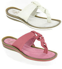 Womens Gluv Vittoria Soft Leather knotty Toe Post Thong Casual Sandals Size 4-8