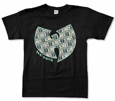 "WU-TANG CLAN ""MONEY"" BLACK T-SHIRT NEW OFFICIAL ADULT WUTANG"