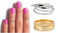 Cute Midi Finger Ring Set Silver Gold Stack Above Knuckle Band gift rings 5pcs