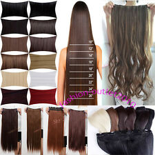 100% Synthetic Hair Clip In Hair Extensions 5clips Heat Resistant favored AAA79