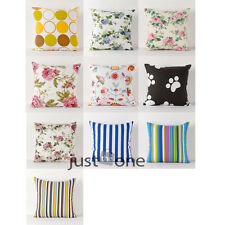 New Multi Styles Canvas Square Pillow Case Cushion Cover for Home Bed Sofa Decor