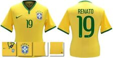 *14 / 15 - NIKE ; BRAZIL PLAYER ISSUE HOME SHIRT SS / RENATO 19 = SIZE*
